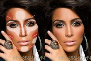 Kim Kardashian Contouring Makeup Guide