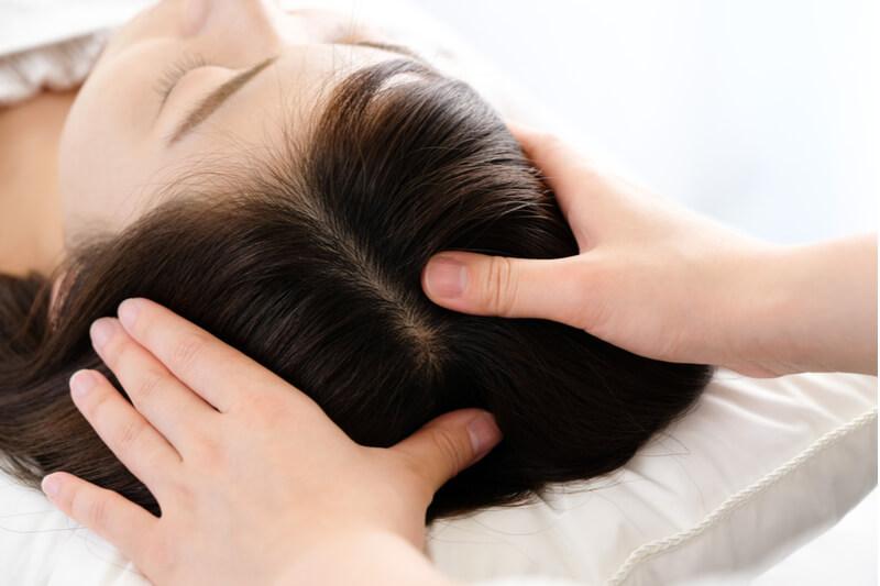 scalp massage hair loss