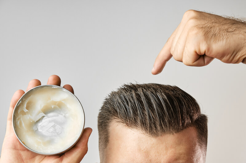 styling products hair loss thinning